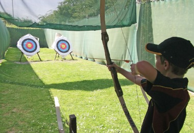 Upper shell boy archery session activity afternoon