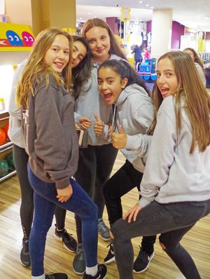 2017 U3 Leavers Camp Girls at Bowling