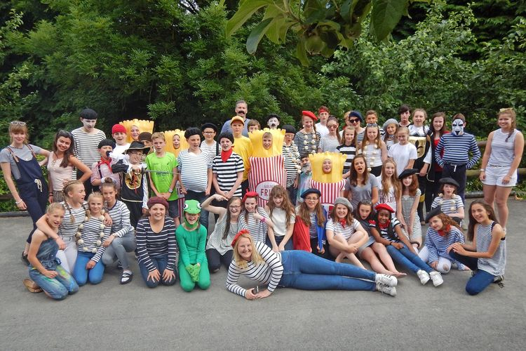 L3 Normandy French Trip Group in French Dress
