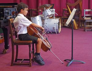 Ls music concert boy on cello