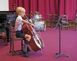 Ls music concert boy playing cello