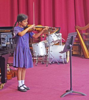 Ls music concert girl performing on violin