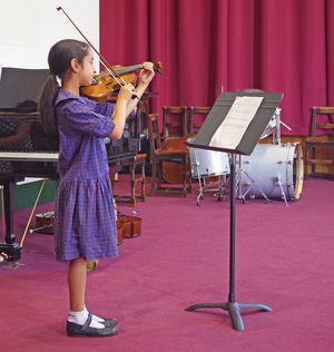 Ls music concert girl playing violin