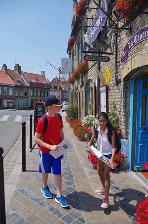 Form 1 Boy & Girl in Bergues on French Day Trip