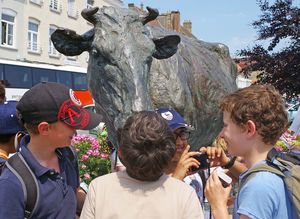 Form 1 Boys in Bergues on French Day Trip