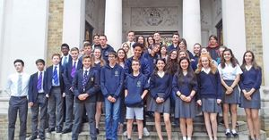 4th form pupils with swiss exchange partners