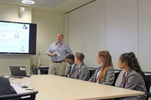 U3 pupils with john at medimmune