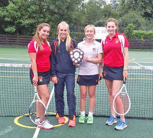 Senior house tennis winners Alliott