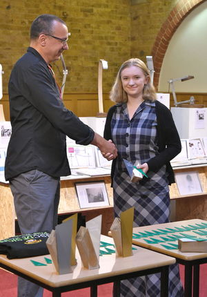 Judge Mark with Katrina Wood Product Design Show 2017