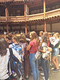 4th Form Pupils Visiting Globe Theatre