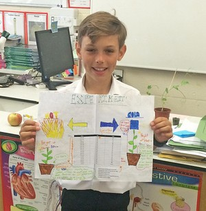2vl boy with plant experiment poster