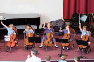 Boys and Girls on Cellos Year 2 Concert