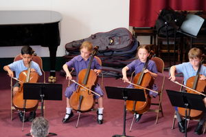 Boys and Girls Playing Cello Year 2 Concert