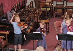 Year 2 Pre-Prep Concert three Violinists