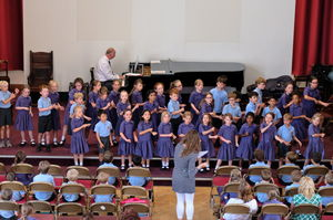 Choir Singing in Year 2 Pre-Prep Concert