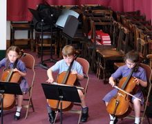 Cellists in Year 2 Concert
