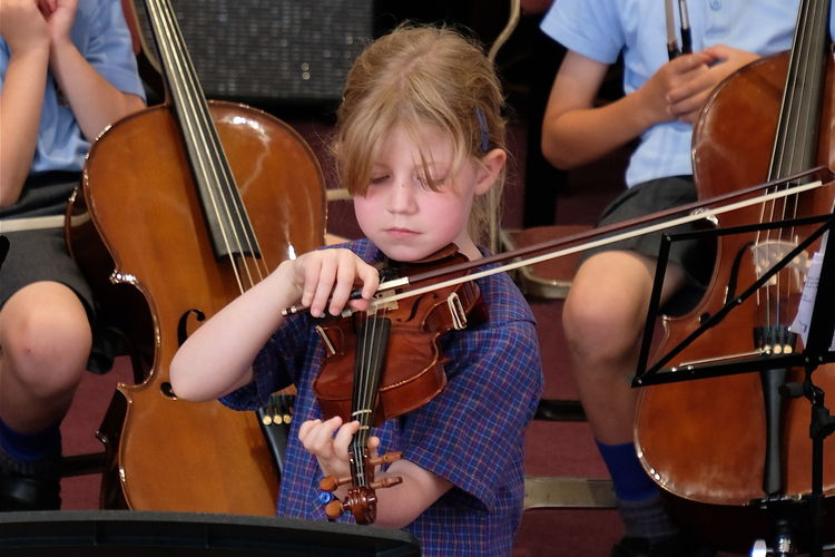 Girl on Violin Year 2 Pre-Prep Concert