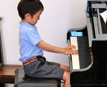 Boy Pianist at Year 2 Concert