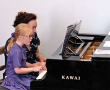 Girl on Piano Year 2 Concert