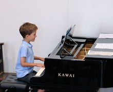 Year 2 Pre-Prep Concert Boy on Piano