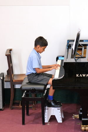 Boy Pianist Year 2 Concert