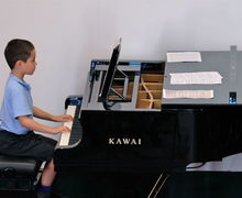 Pianist at Year 2 Concert Boy