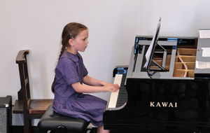 Piano Recital by Girl at Year 2 Concert
