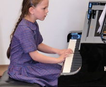 Girl Pianist at Year 2 Concert