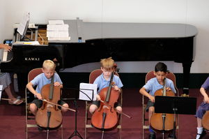 Boys on Cello at Year 2 Concert