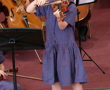 Girl Violinist at Year 2 Pre-Prep Concert