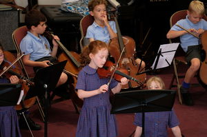 Year 2 Concert Strings Playing