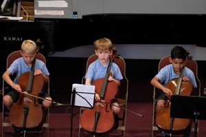 Three Boys on Cello Year 2 Concert