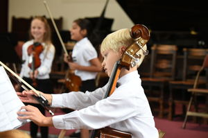 Prep School Cellist at Picnic Concert 2017