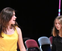 Girl Actors in Fourth Form Play After Juliet