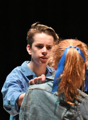 Boy and Girl in Fourth Form Play After Juliet