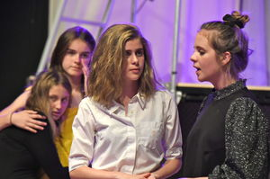 Four Girls in Fourth Form Play After Juliet