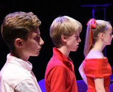 Boys and Girl in Fourth Form Play After Juliet