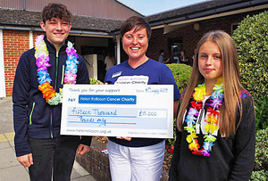 Cheque presentation to helen rollason charity