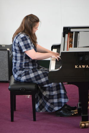 Rosie on Piano at Instrumental Competition 2017