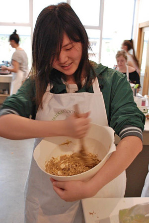 L6 Girl at Cambridge Cookery School