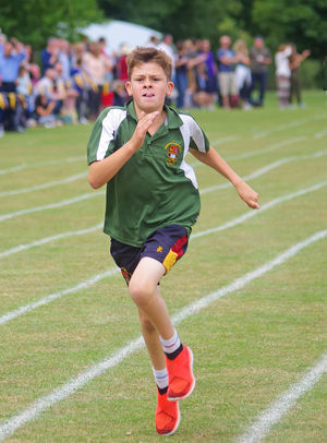 Grimwade runner at prep school sports day