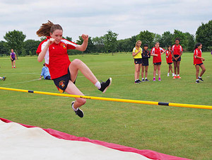 Monk jones girl high jump prep school sports day