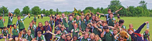 Grimwade House pupils Prep School Sports day