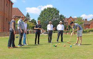 New 6th Formers Maths Induction Croquet