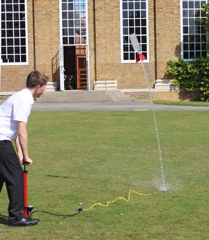 6th Form Induction to Physics Water Rockets