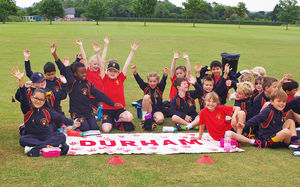 Durham pupils at shell sports day