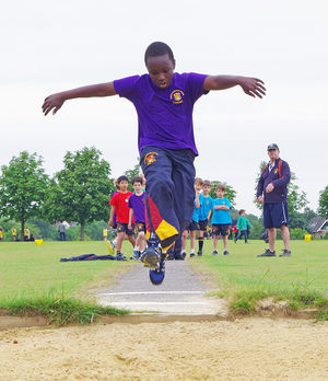 Highjump on shell sports day