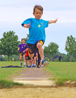 Longjumping on shell sports day