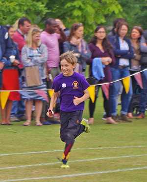 Shell boy racing on sports day