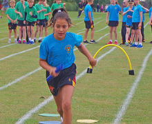 Shell girl in shell sports day house relay